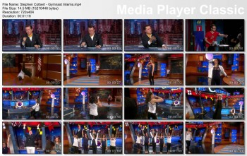 McKayla Maroney, Gabby Douglas, Aly Raisman, Jordyn Weiber and Kyla Ross on The Colbert Report
