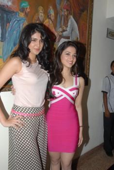 Deeksha Seth along with Tamanna Bhatia @ unknown event